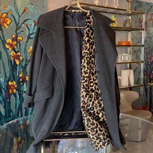 Carolyne Roehm Cashmere Coat With Chipmunk Fur sz8